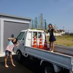 Jr.ボランティアClubの子たちは作業車の洗車もします。