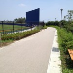 散歩をしながら隣の野球場での熱戦に声援を送ることもできます。