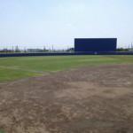 軟式野球場(要予約)両翼95メートルの本格的野球場です。球場内の設備についてはこちらから