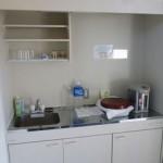 <湯沸室> 水、温水、電気ポットがご利用いただけます。