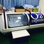<高気圧酸素カプセル> たった1時間で疲れが吹き飛ぶ酸素カプセルも置いてます。